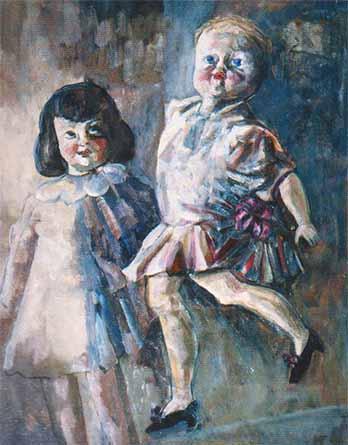 Картина из коллекции живописи художника Игоря Иванова Куклы