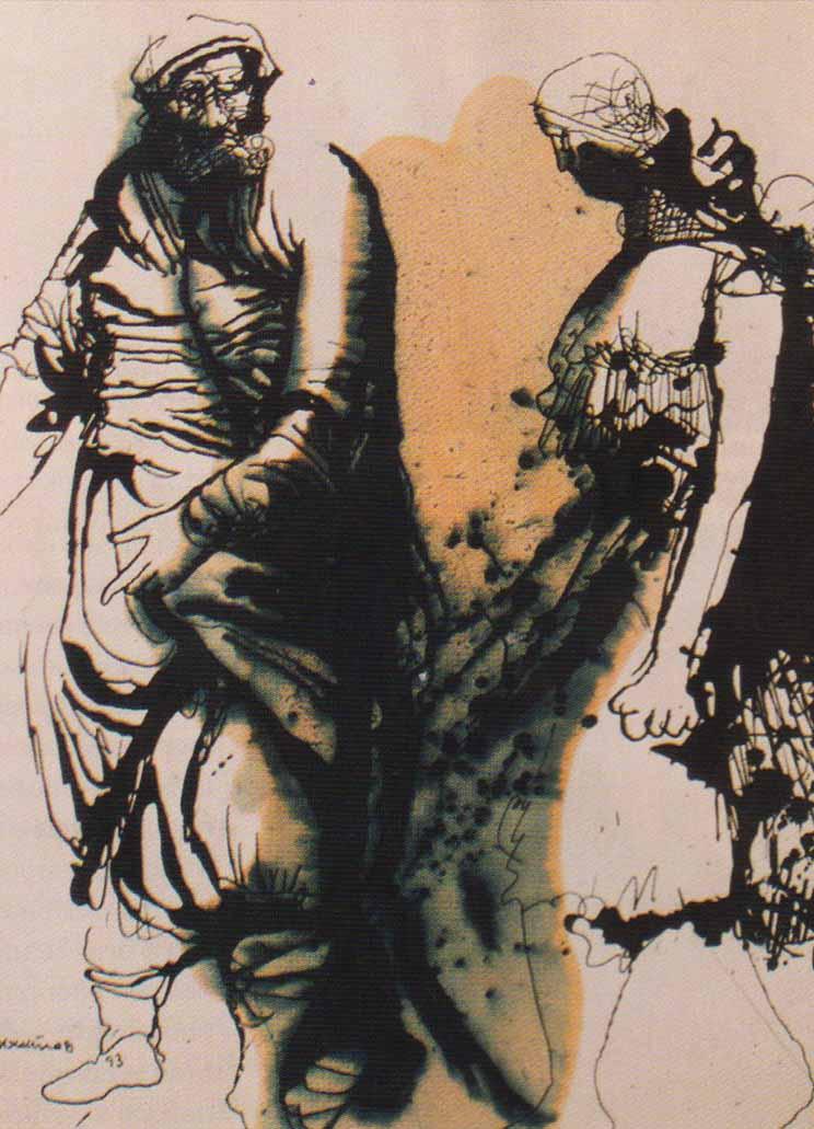 Картина из коллекции живописи художника Вячеслава Михайлова Композиция Театр XII